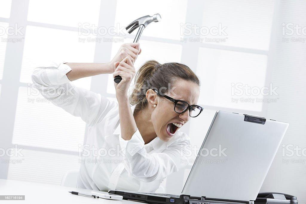 Computer problems stock photo