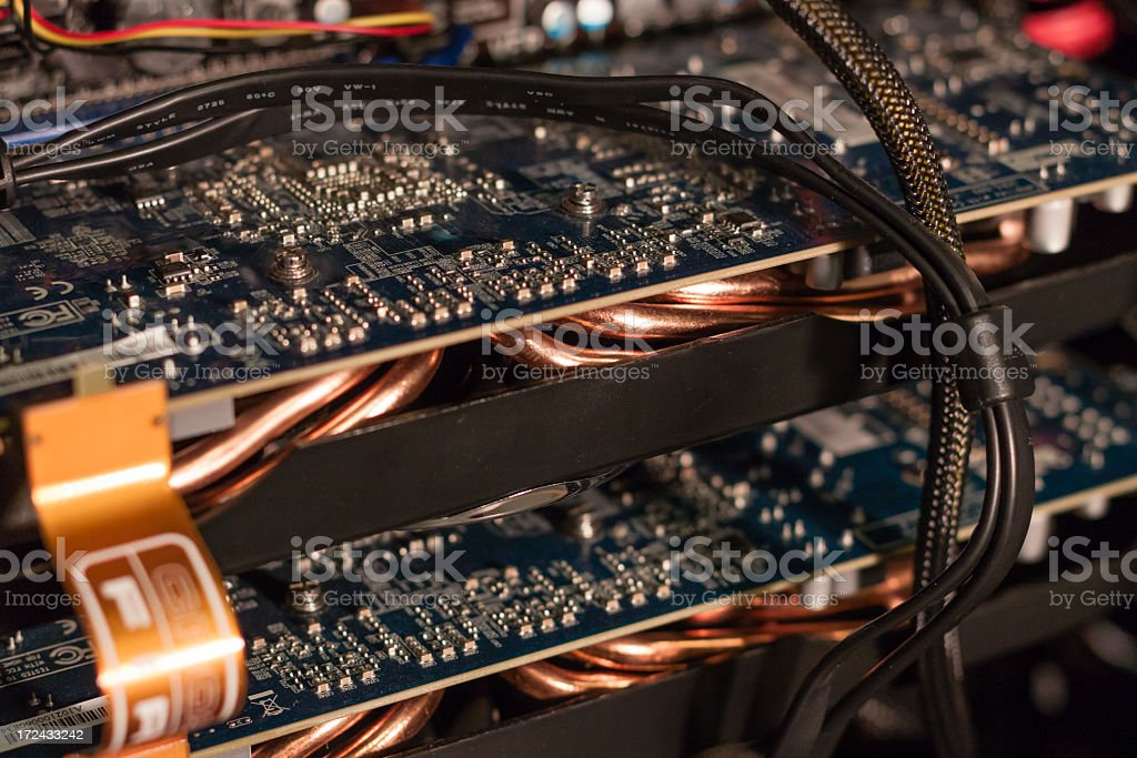 Computer Processors and Circuitry stock photo