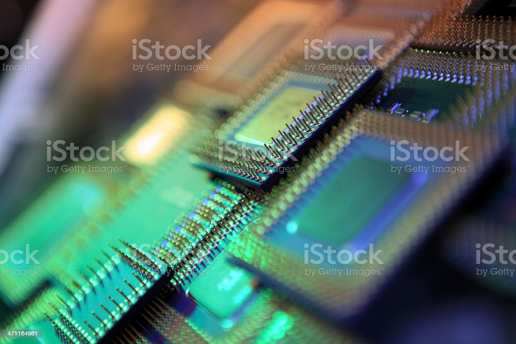 computer processors royalty-free stock photo