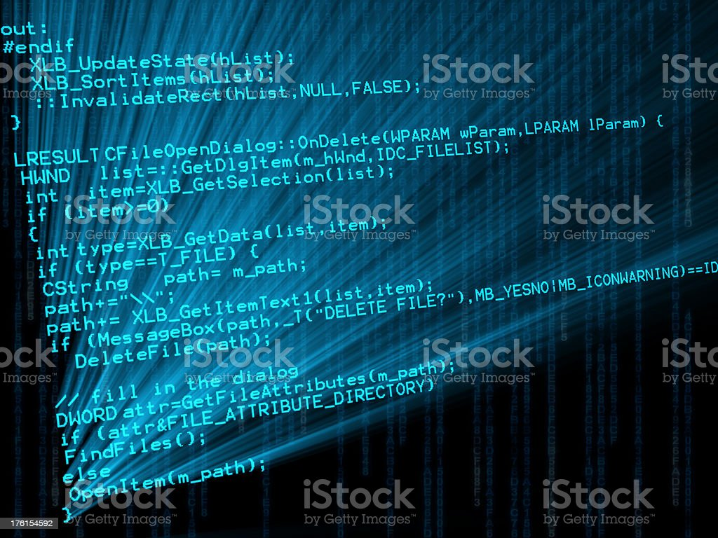 Computer program code royalty-free stock photo