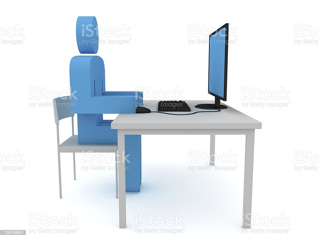 Computer Programmer royalty-free stock photo