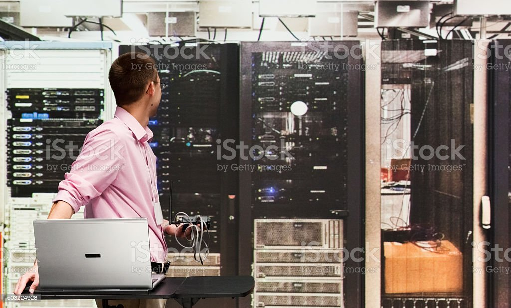 Computer programmer working indoors stock photo