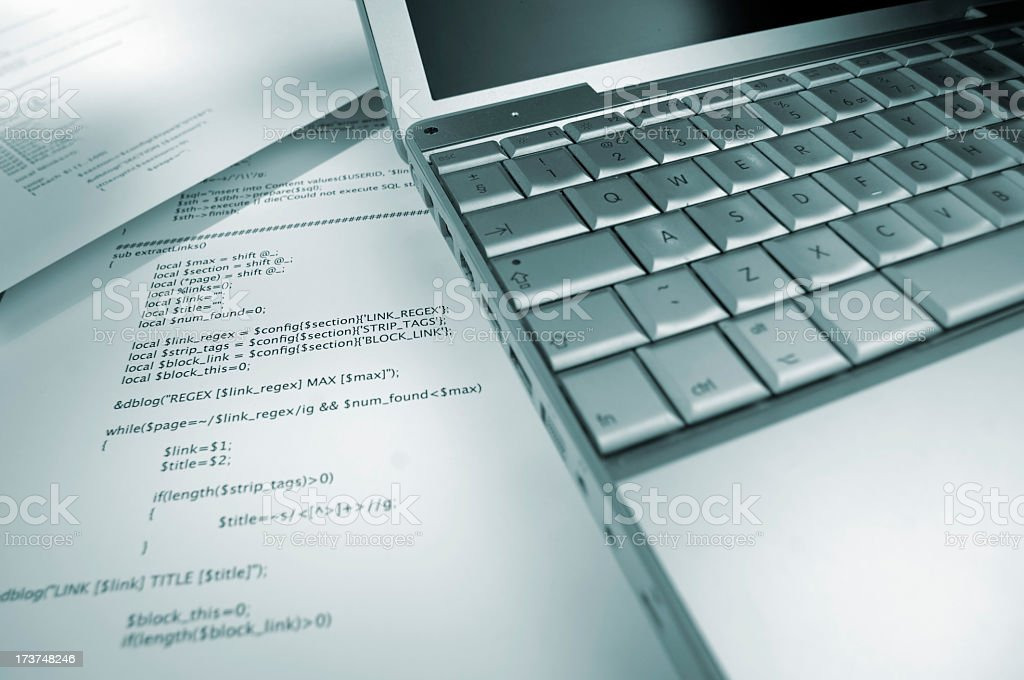 Computer Programming Code royalty-free stock photo