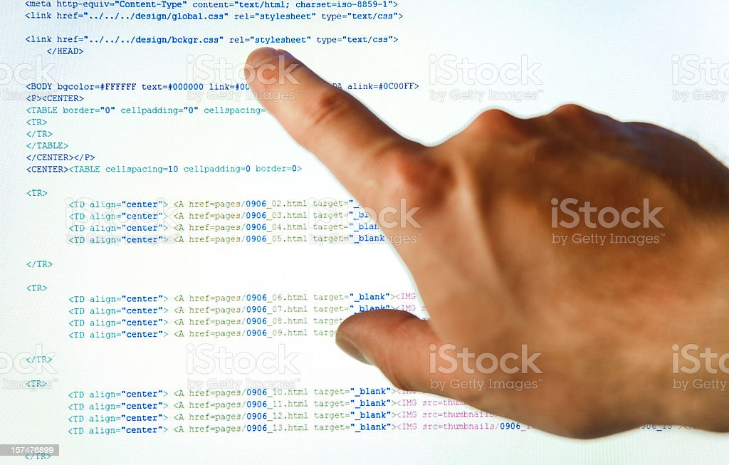 computer programming (html) royalty-free stock photo