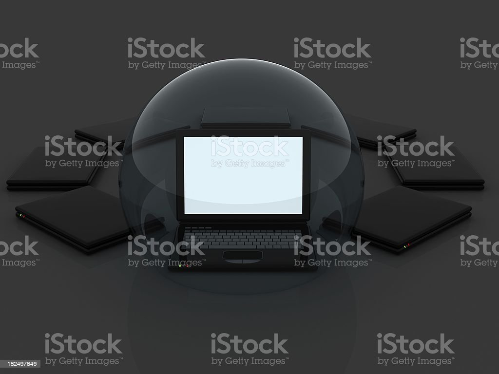 Computer Protection stock photo