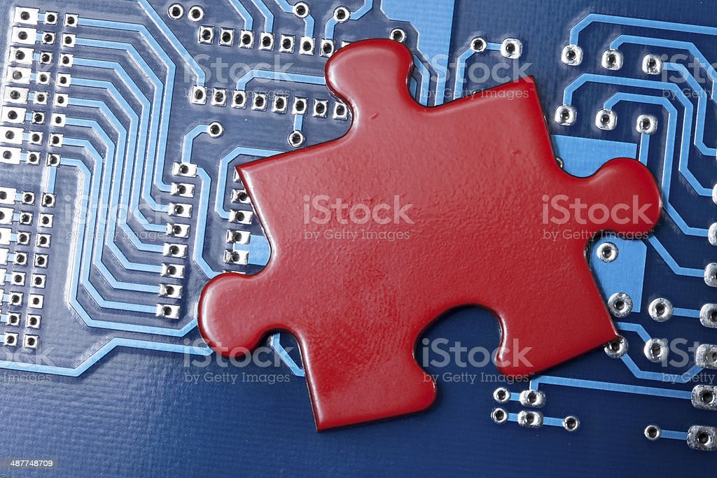 computer puzzle royalty-free stock photo