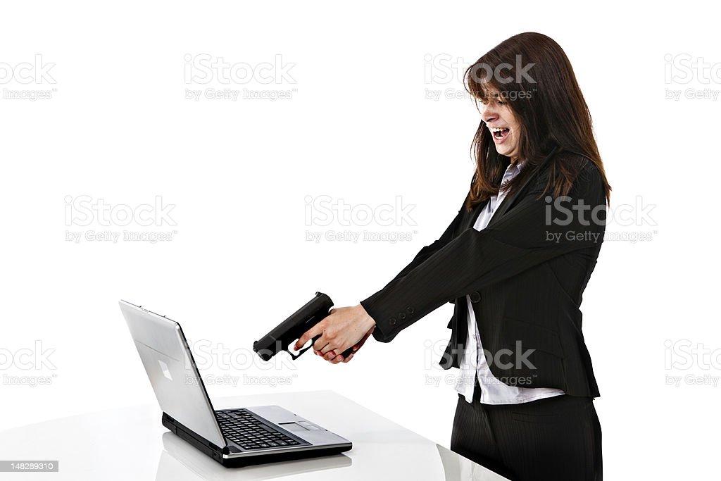 Computer rage stock photo