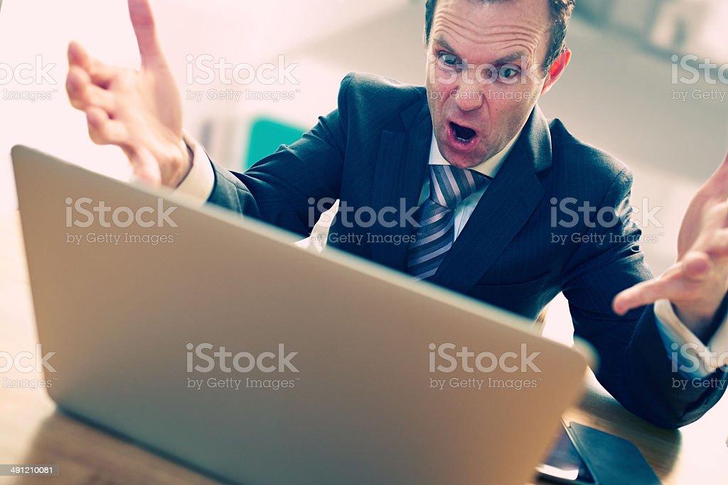 Computer Rage royalty-free stock photo