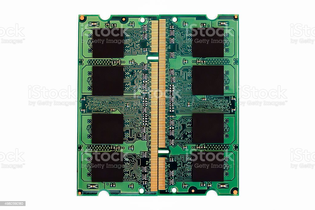 Computer RAM isolated on white stock photo