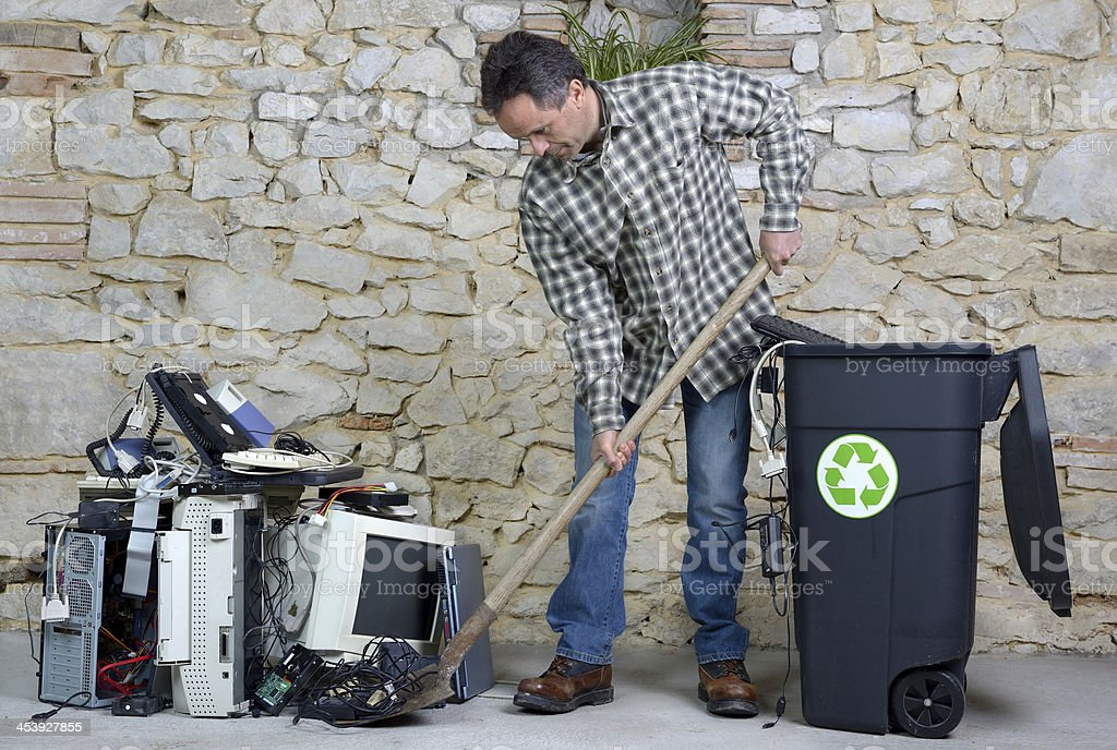 computer recycling two royalty-free stock photo