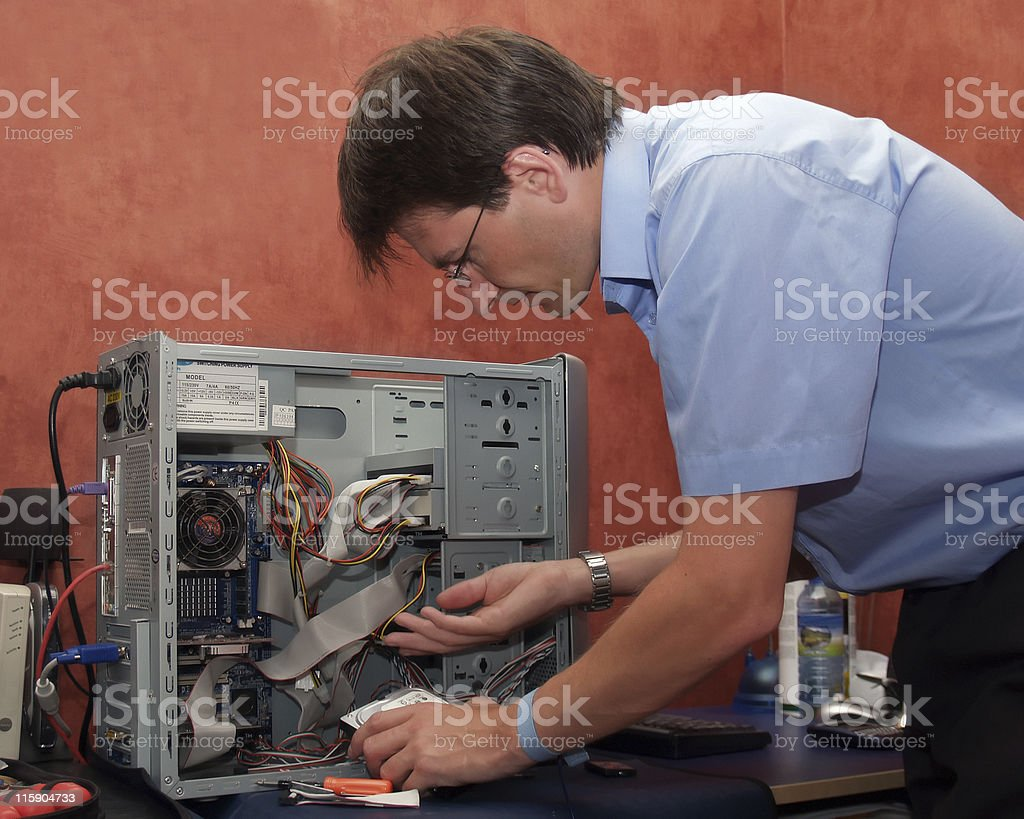 Computer Repair Engineer (No cropping) royalty-free stock photo