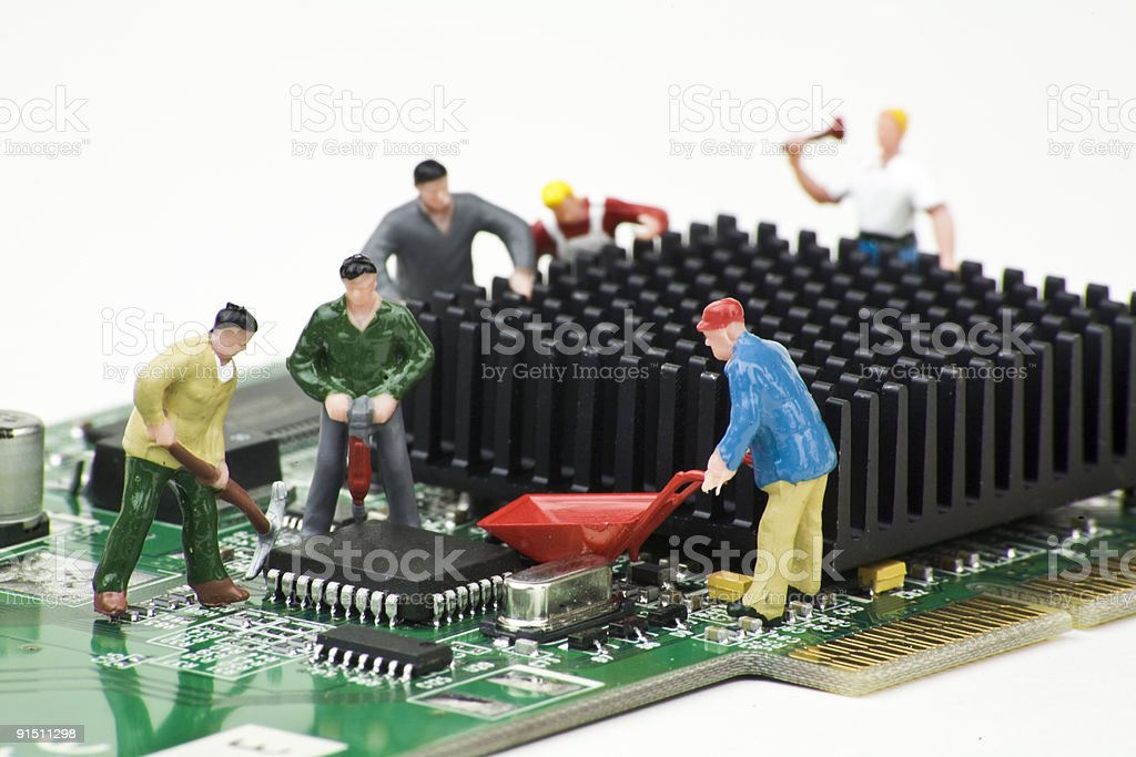 Computer Repair, IT Support stock photo