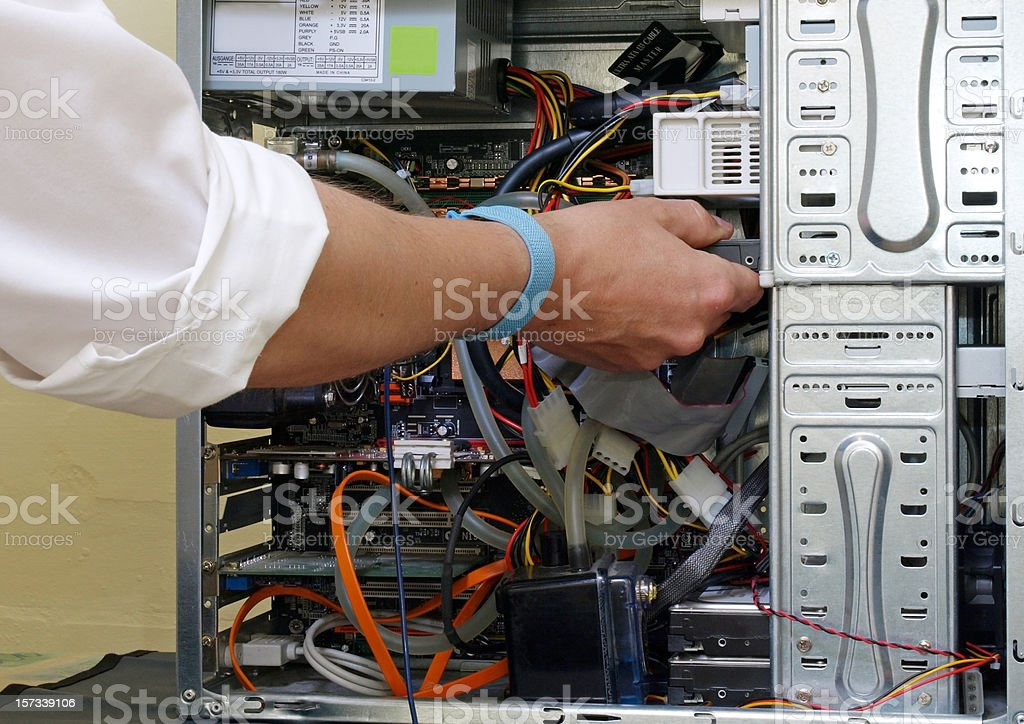 Computer Repairing royalty-free stock photo