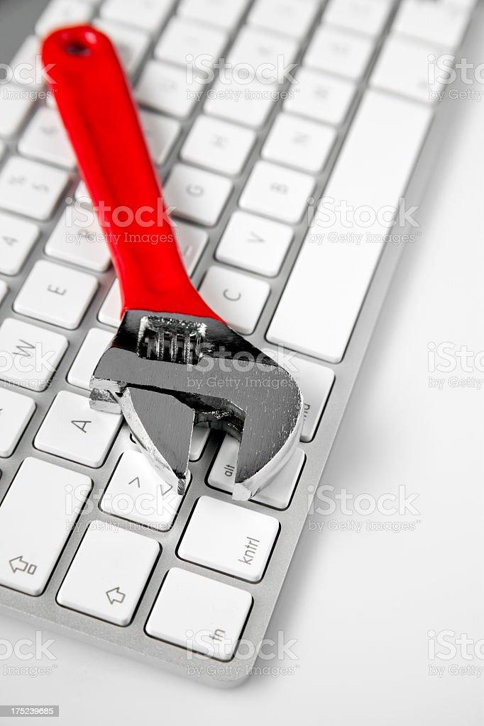 Computer repairs royalty-free stock photo