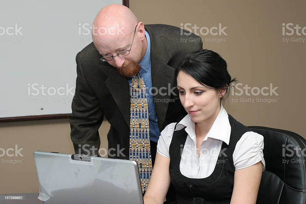Computer Review royalty-free stock photo