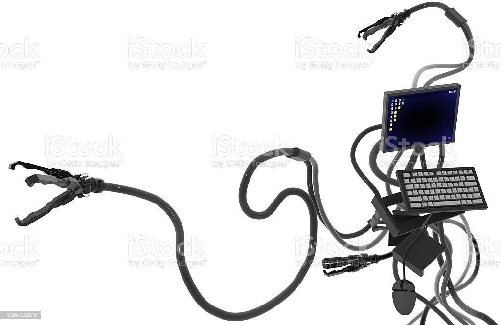 Computer Robot Arm stock photo