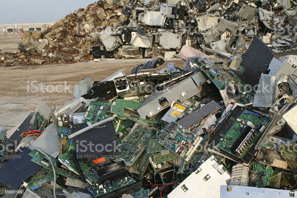 Computer, scrap metal and iron dump # 12 stock photo