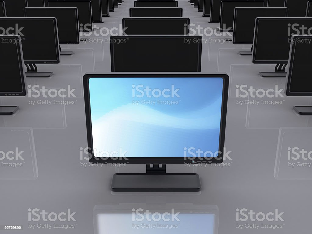computer screen series royalty-free stock photo