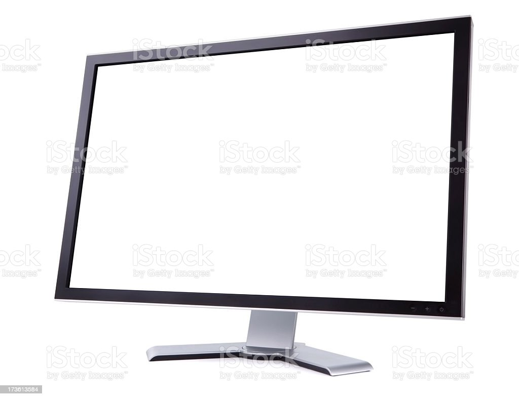 Computer Screen (Angled)  XXXL + Clipping Path stock photo