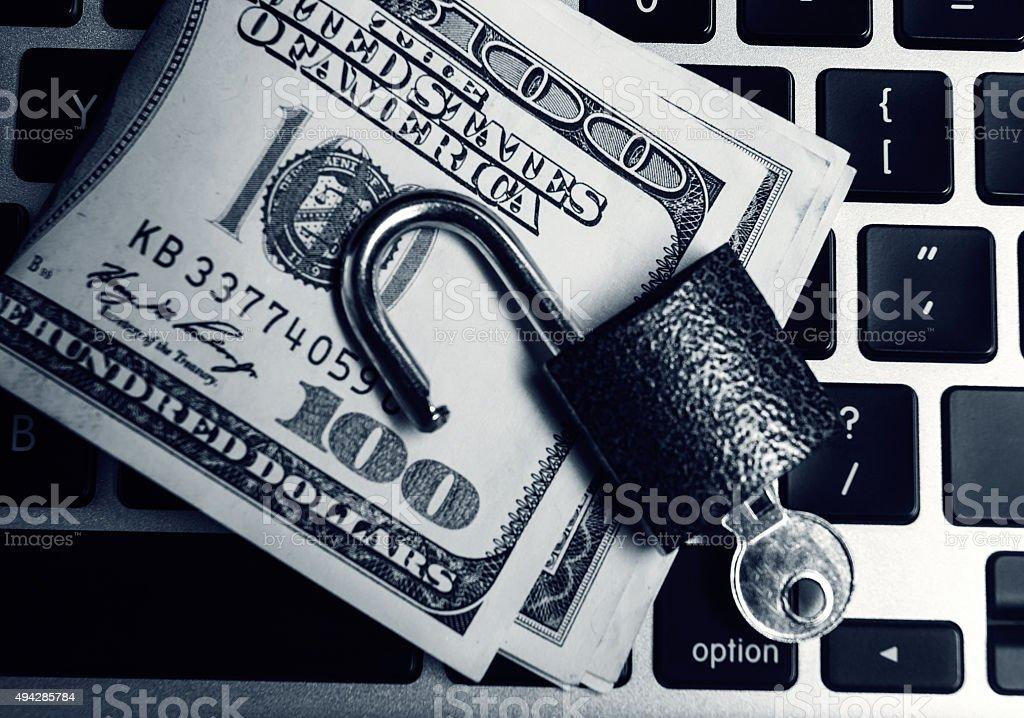 Computer security breach concept stock photo