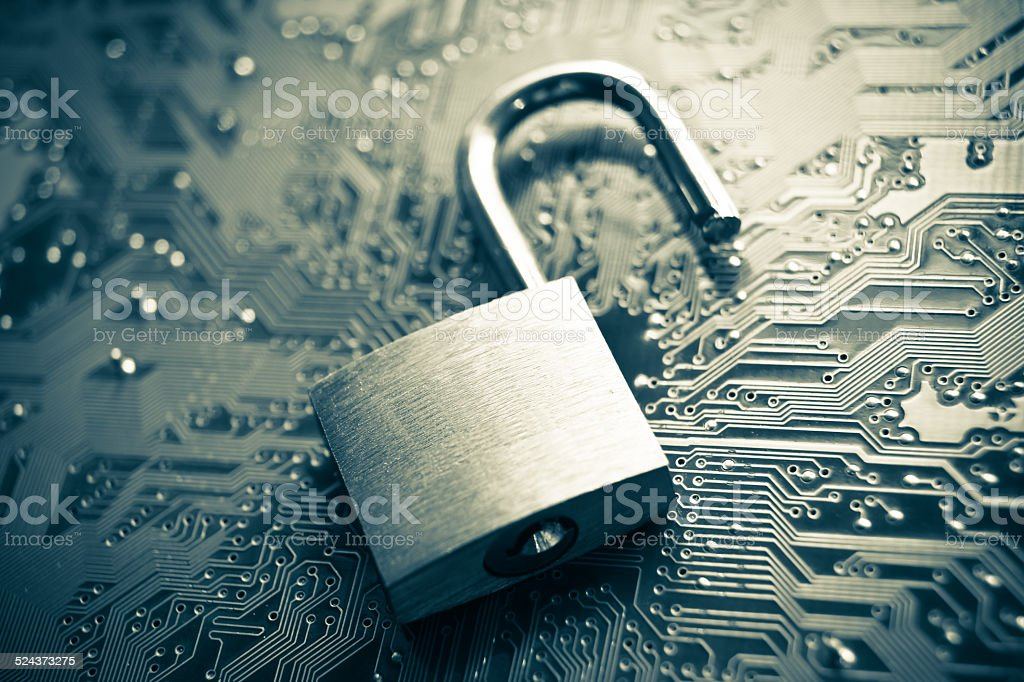 computer security breach stock photo