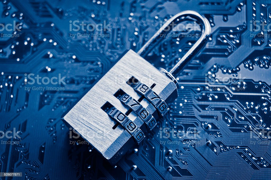computer security stock photo