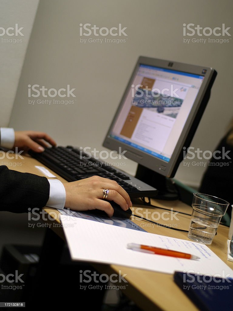 Computer seminar royalty-free stock photo