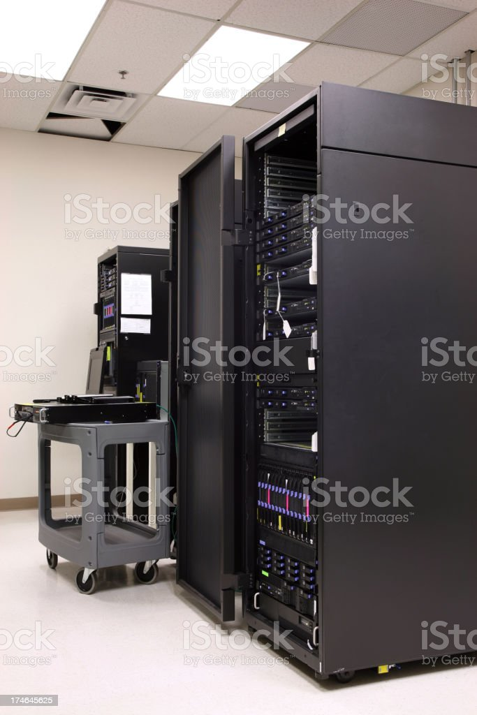 Computer Server Rack royalty-free stock photo