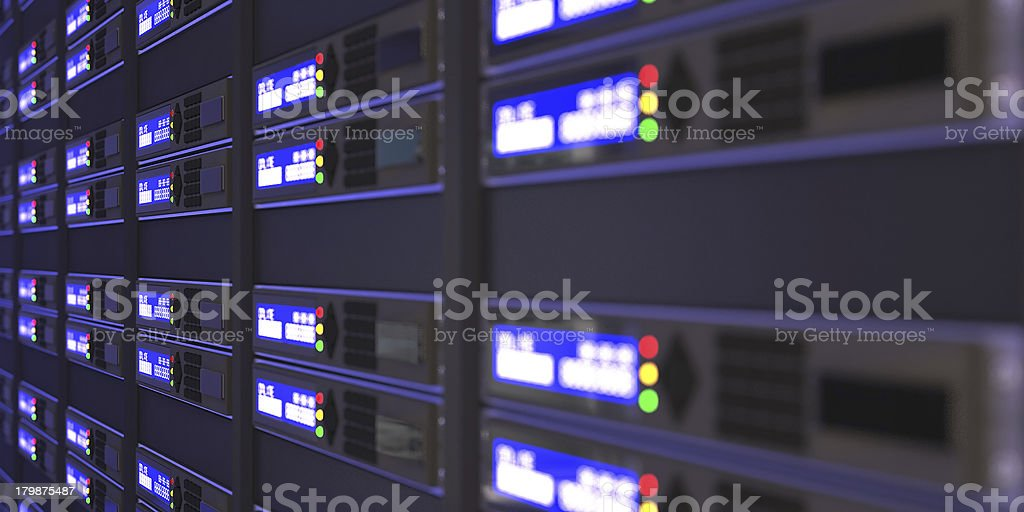 Computer servers 3d rendering royalty-free stock photo