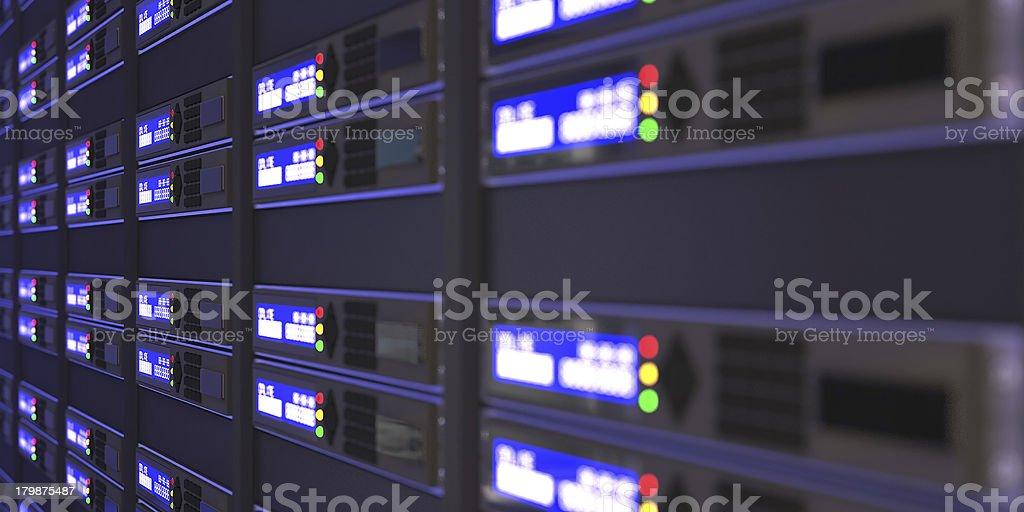 Computer servers 3d rendering stock photo