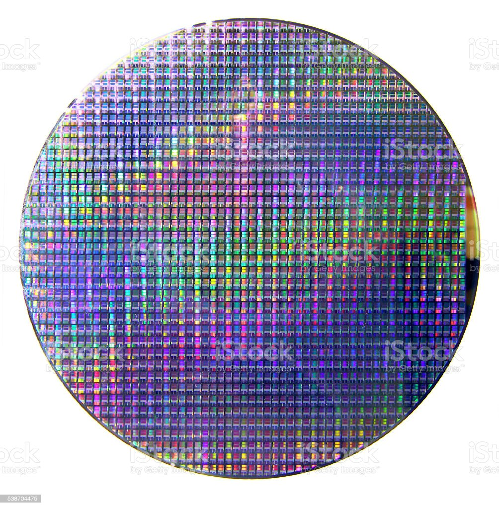 Computer silicon wafer stock photo