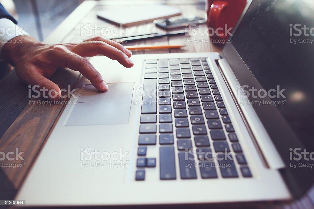 Computer software development process stock photo
