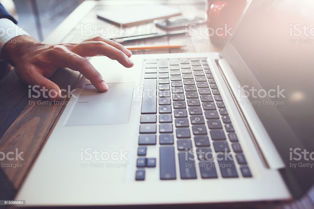 Computer software development process stock photo