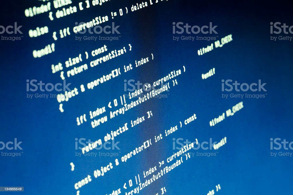 Computer source code royalty-free stock photo