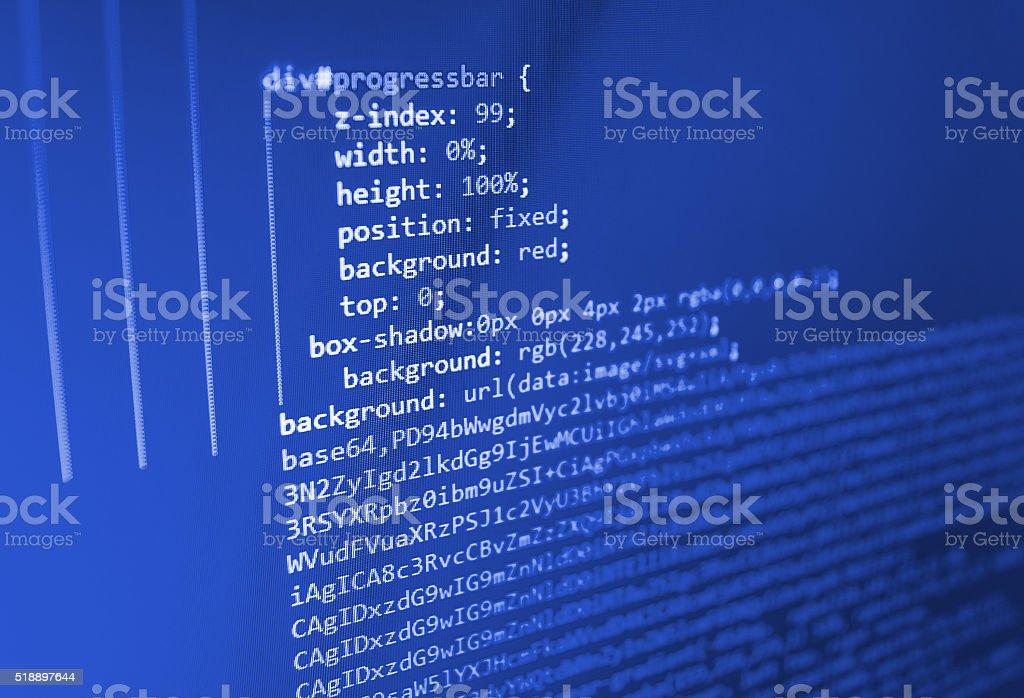 Computer source code programmer script developer. stock photo