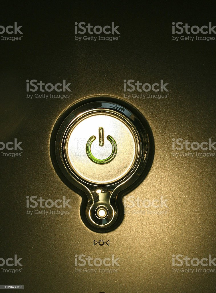 Computer start button royalty-free stock photo