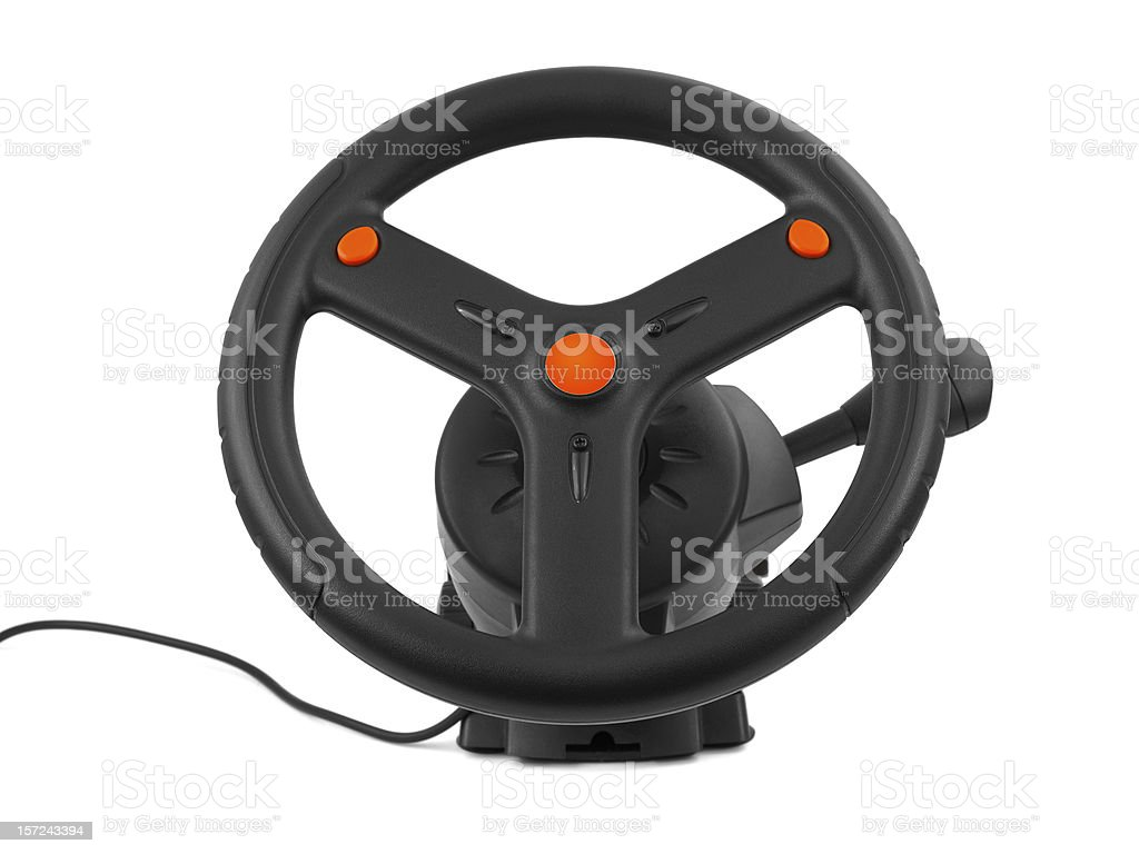 Computer steering wheel royalty-free stock photo