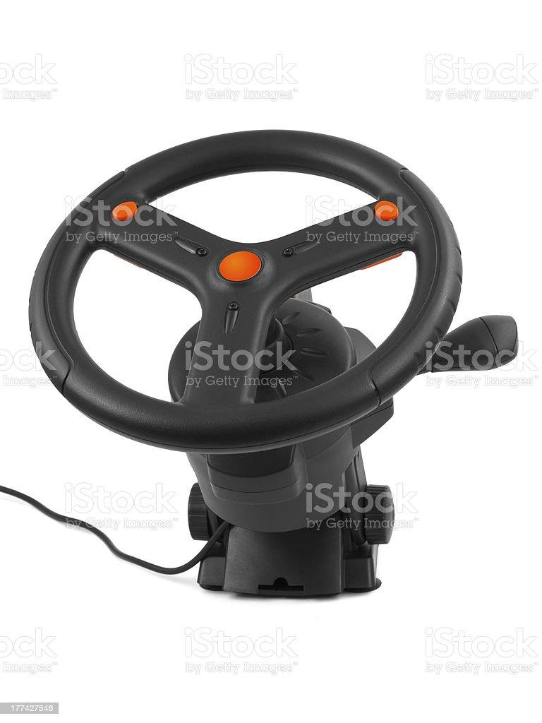 Computer steering wheel royalty-free stock photo