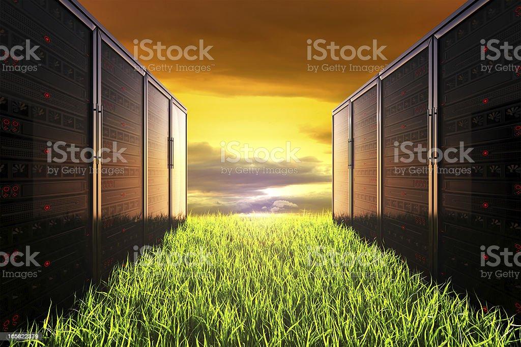 Computer Sunset royalty-free stock photo
