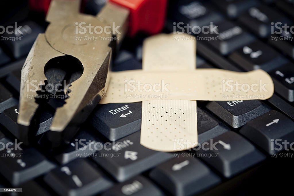 Computer Support stock photo