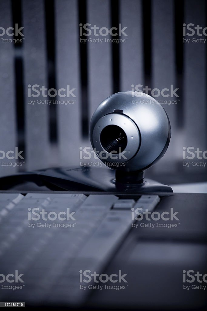 Computer surveillance stock photo