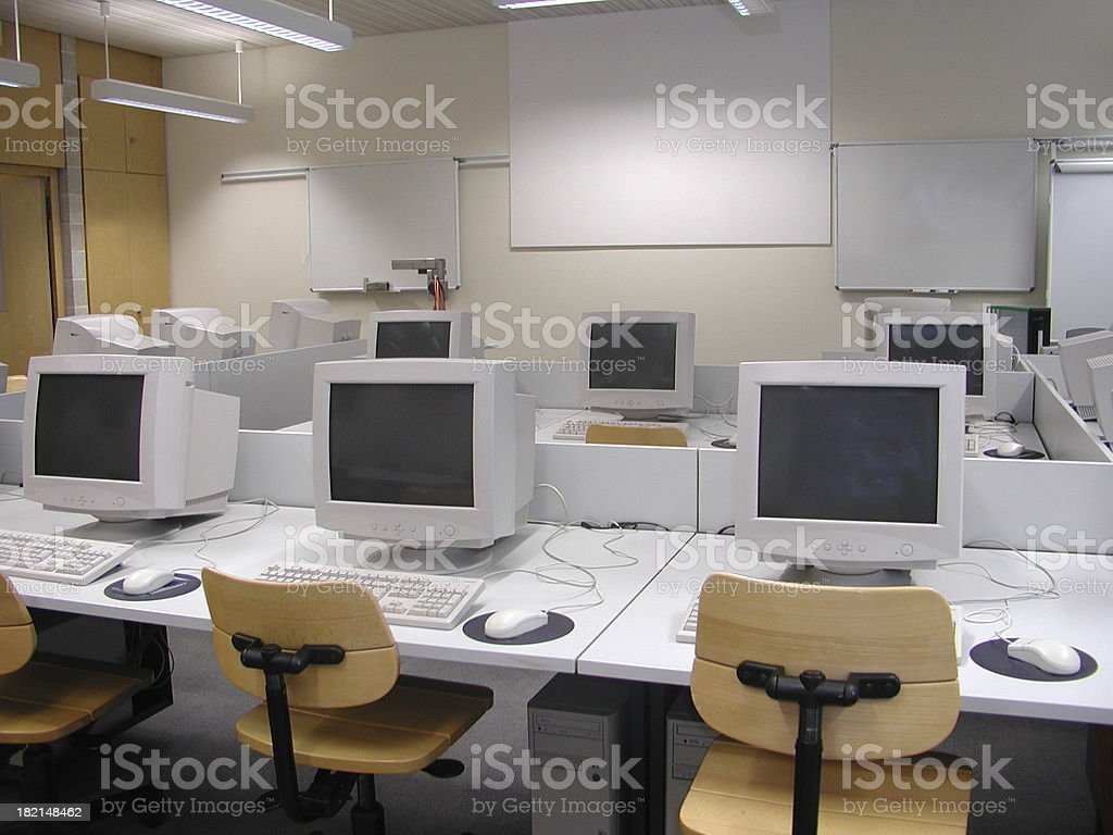 computer teaching room 1 royalty-free stock photo