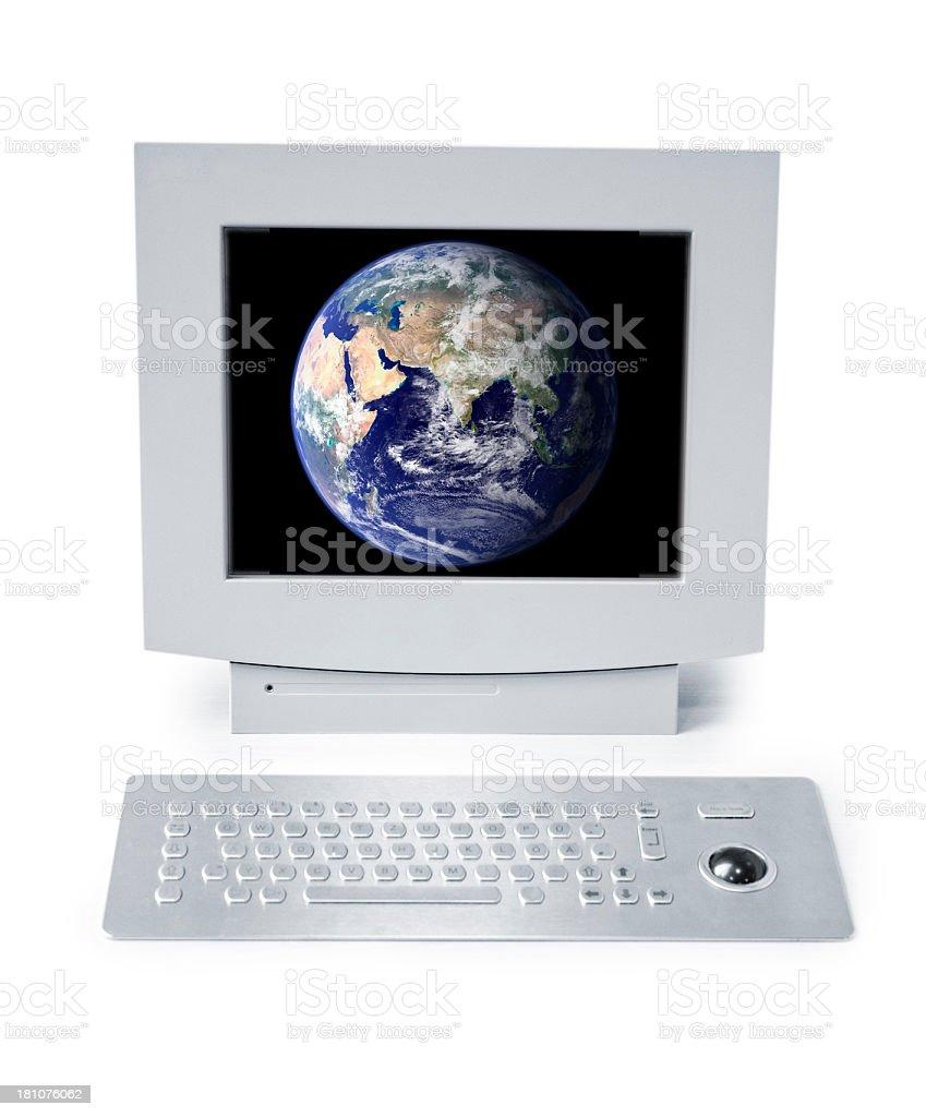 computer terminal stock photo