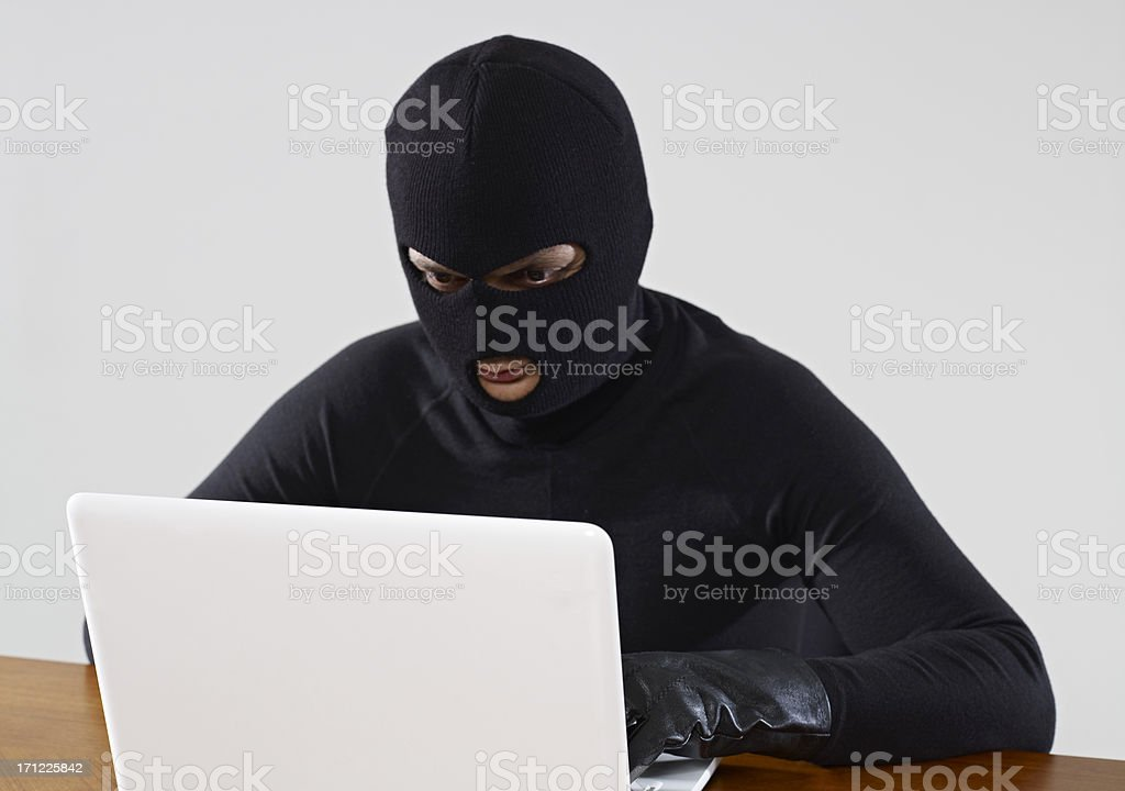 Computer Thief royalty-free stock photo