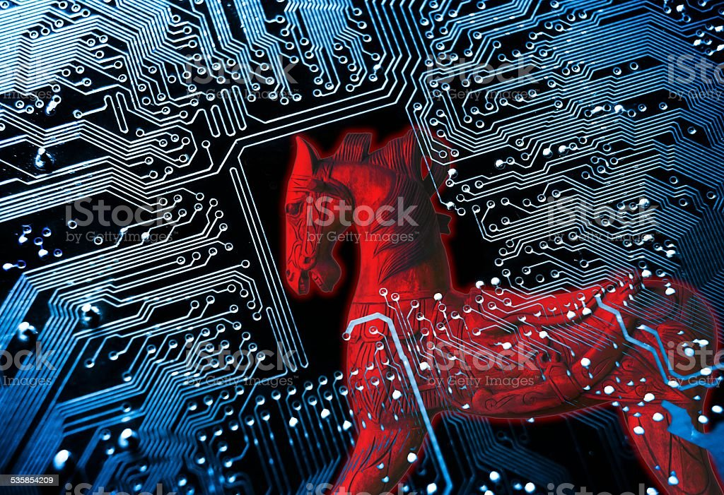 Computer Threat stock photo