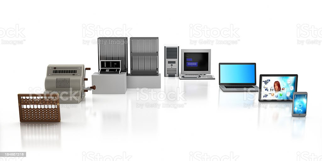 Computer timeline stock photo