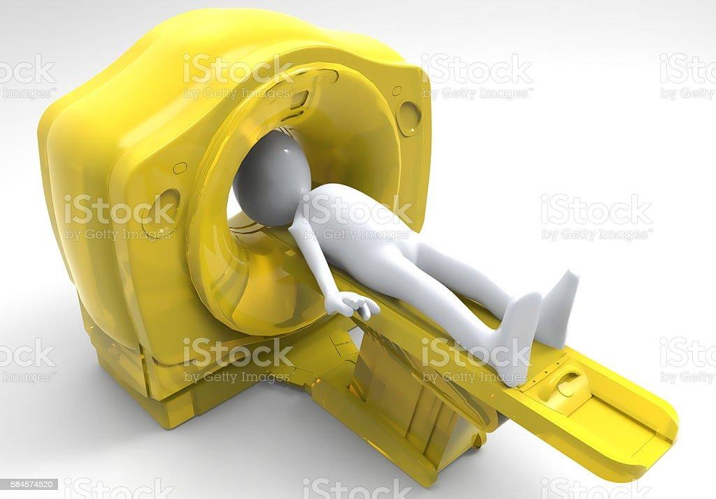 computer tomographic scanner 3d illustration stock photo