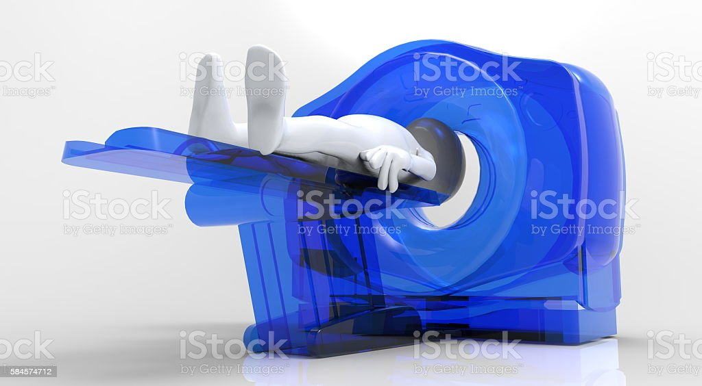 computer tomographic scanner 3d illustration stock photo