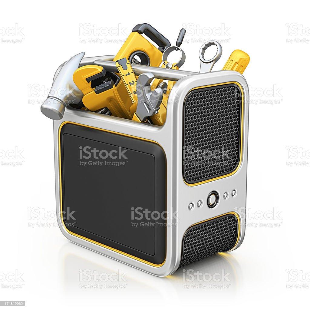 computer toolbox royalty-free stock photo