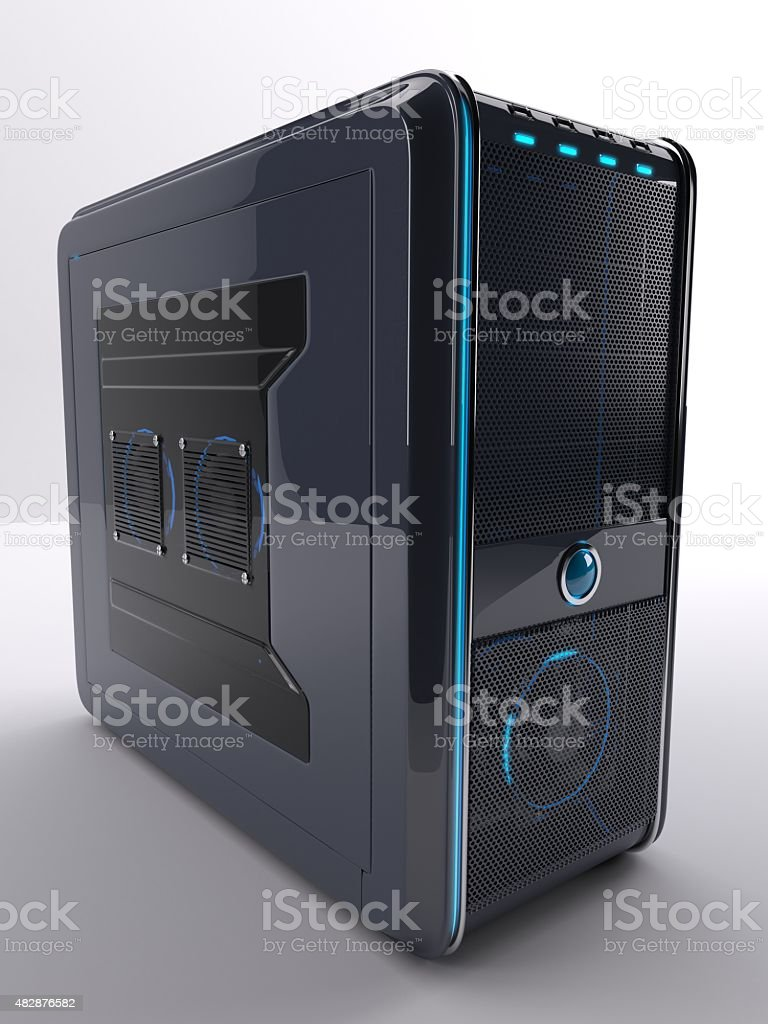 PC Computer Tower stock photo